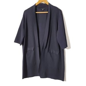 COS Open Front Navy Cardigan Size Large.